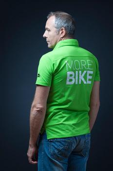 póló r gallér more bike zöld h